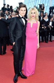 Pixie Lott was equal parts sweet and sexy in a form-fitting hot-pink halter gown by Dsquared2 at the Cannes premiere of 'From the Land of the Moon.'