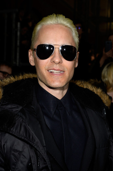 Jared Leto looked very cool with his new blond 'do at the Lanvin fashion show.