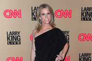 Actress Cheryl Hines arrives at CNN's
