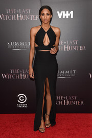 Ciara dropped jaws with this slinky black Solace London cutout dress during the New York premiere of 'The Last Witch Hunter.'