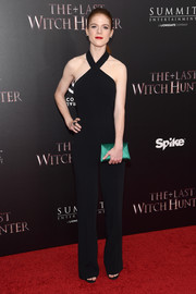 Rose Leslie was all about easy sophistication in a black halter jumpsuit during the New York premiere of 'The Last Witch Hunter.'