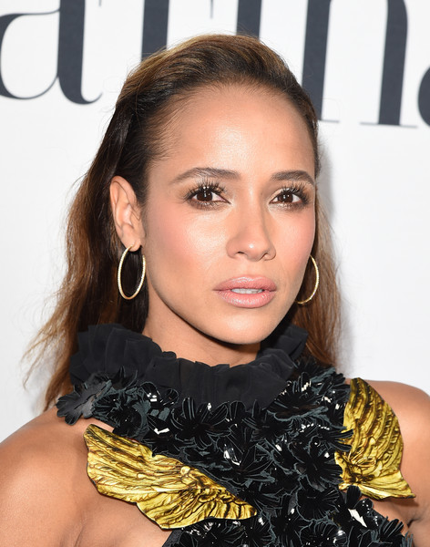 Dania Ramirez styled her hair with subtle waves and slicked-back sides for the Latina Hot List party.