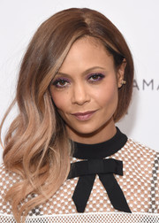 Thandie Newton accentuated her eyes with some jewel-tone shadow.