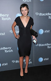 Zelda Williams showed off her simple black dress.