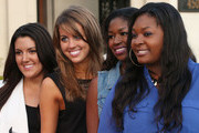 (L-R) Singer Kree Harrison, Angie Miller, Amber Holcomb and Candice Glover attend the launch of the Seventh Annual Britweek Festival
