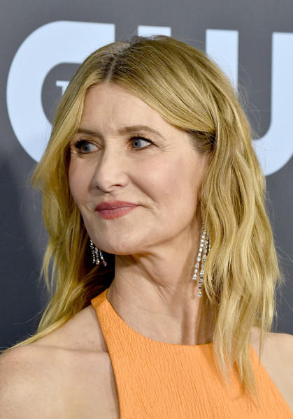 Laura Dern Medium Wavy Cut [hair,face,hairstyle,blond,chin,layered hair,eyebrow,beauty,long hair,shoulder,arrivals,laura dern,critics choice awards,barker hangar,santa monica,california,laura dern,25th critics choice awards,2020 palm springs international film festival,marriage story,celebrity,actor,photograph,critics choice movie award for best supporting actress,academy award for best actress in a supporting role,fashion]