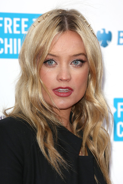 Laura Whitmore Headband [hair,face,blond,hairstyle,eyebrow,lip,chin,long hair,beauty,layered hair,arrivals,laura whitmore,people,uk,england,london,wembley arena,we day uk,charity event]