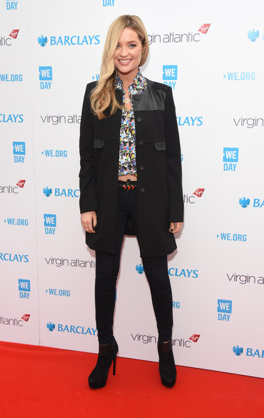 Laura Whitmore Skinny Jeans [clothing,carpet,red carpet,suit,footwear,fashion,outerwear,electric blue,flooring,premiere,red carpet arrivals,laura whitmore,youth,difference,communities,sse arena,england,london,we day]