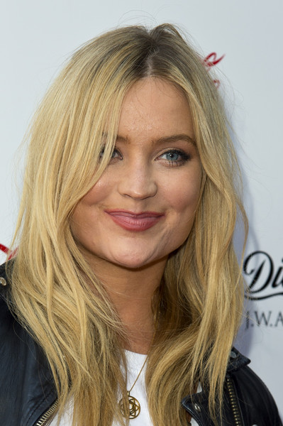 Laura Whitmore Long Center Part [hair,face,blond,hairstyle,eyebrow,layered hair,lip,long hair,chin,hair coloring,arrivals,diet coke j.w.anderson,laura whitmore,diet coke,london,england,village underground,launch party,launch party]