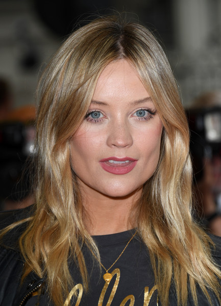Laura Whitmore Long Wavy Cut [blinded by the light,hair,face,blond,hairstyle,eyebrow,lip,long hair,layered hair,brown hair,beauty,laura whitmore,uk,england,london,curzon mayfair,red carpet arrivals,gala screening,uk gala screening]
