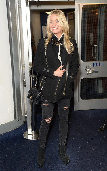 Laura Whitmore Quilted Leather Bag [the guvnors,clothing,tights,blond,lady,knee-high boot,leather,footwear,fashion,riding boot,outerwear,laura whitmore,uk,london,england,odeon covent garden,premiere]