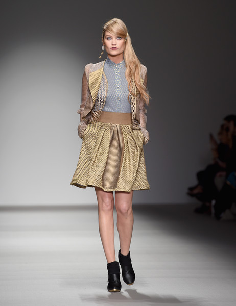 Laura Whitmore Skirt Suit [fashion show,fashion model,fashion,runway,clothing,fashion design,public event,shoulder,event,footwear,laura whitmore,bora aksu,fw15,bora aksu - runway,runway,london,england,somerset house,lfw,show]