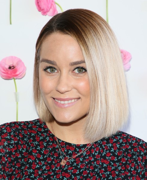 Lauren Conrad was stylishly coiffed with a graduated ombre bob while celebrating International Women's Day.