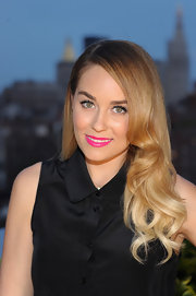 A bold pink lip totally made Lauren Conrad's lips stand out!