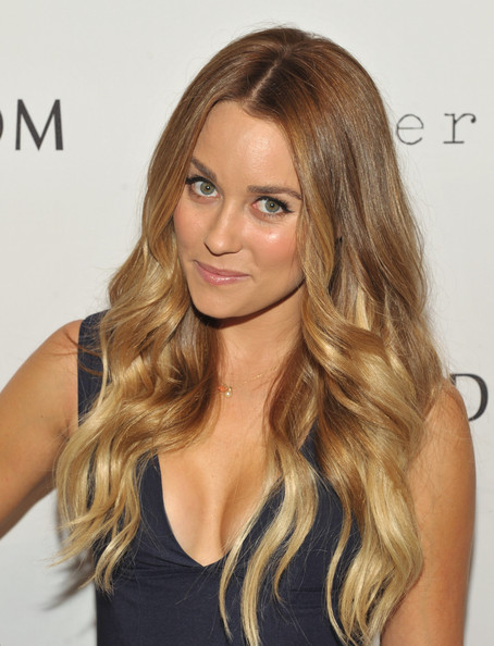 Lauren Conrad Ombre Hair [hair,blond,hairstyle,face,long hair,brown hair,hair coloring,eyebrow,layered hair,beauty,lauren conrad,california,los angeles,grove,nordstrom,paper crown,the grove for fashion,night out]