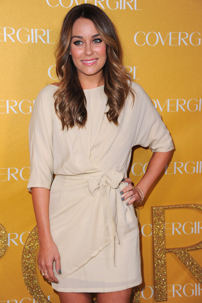 Lauren Conrad Neutral Nail Polish [clothing,white,dress,cocktail dress,yellow,fashion,hairstyle,fashion model,long hair,fashion design,arrivals,lauren conrad,covergirl cosmetics,covergirl cosmetic,west hollywood,california,party,50th anniversary party]