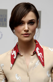 The always chic Keira Knightley keeps her hair casual and easy to manage. Her no fuss look is simple, highlights her glowing beauty.