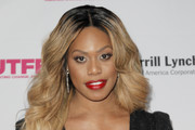 Laverne Cox Long Wavy Cut