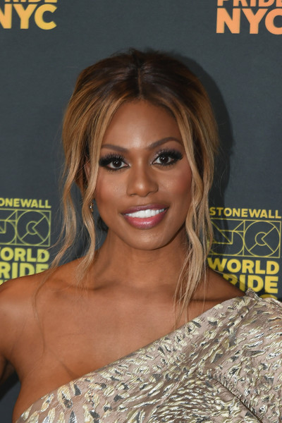 Laverne Cox Loose Ponytail [hair,hairstyle,eyebrow,magazine,beauty,long hair,chin,black hair,blond,eyelash,barclays center,new york city,opening ceremony - worldpride nyc,worldpride nyc 2019 opening ceremony,laverne cox]