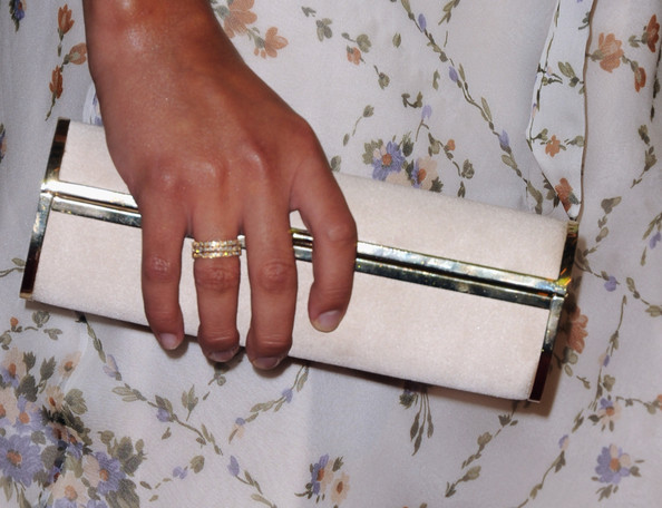 Lea Michele Stackable Rings [nail,finger,hand,joint,beige,fashion accessory,material property,ring,dress,jewellery,arrivals,lea michele,beverly hills hotel,california,hollywood foreign press association,installation luncheon,2011 installation luncheon]