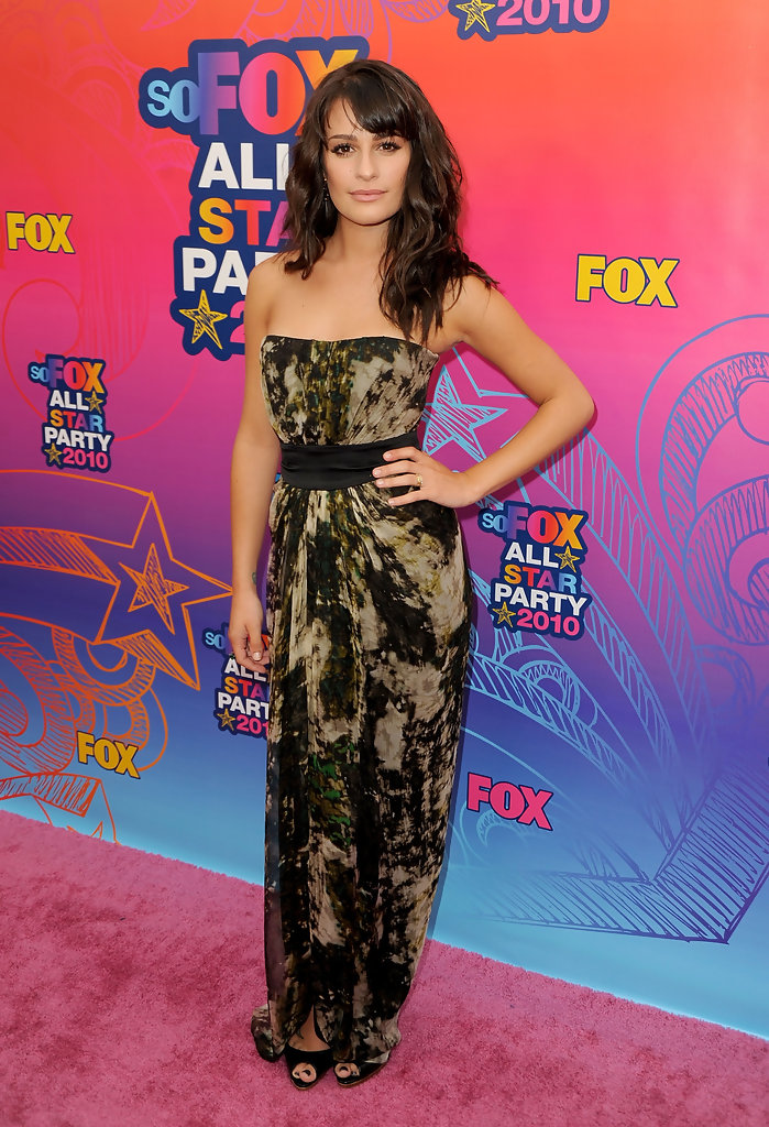 Lea Michele Evening Dress - Lea Michele Clothes Looks