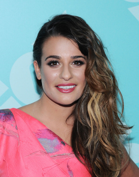 Lea Michele Long Side Part