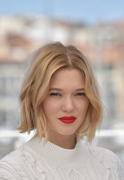 Lea Seydoux Bob [the end of the world,juste la fin du monde,film,hair,blond,human hair color,beauty,hairstyle,eyebrow,lip,chin,forehead,long hair,lea seydoux,hair,cannes,french,cannes film festival,photocall - the 69th annual cannes film festival,photocall,l\u00e9a seydoux,its only the end of the world,hairstyle,bob cut,short hair,hair,fashion,cannes,beauty parlour,cannes film festival]