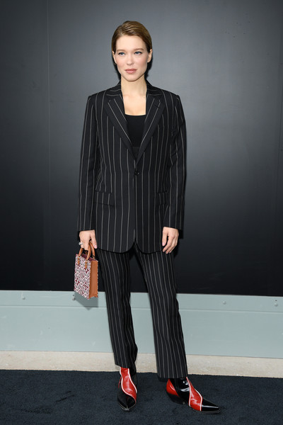 Lea Seydoux Pantsuit [clothing,fashion model,fashion,fashion show,suit,pantsuit,street fashion,formal wear,outerwear,footwear,louis vuitton,lea seydoux,fashion,part,street fashion,model,photocall - paris fashion week,show,paris fashion week,fashion show,l\u00e9a seydoux,paris fashion week,fashion,louis vuitton,fashion show,haute couture,fashion week,shoe,model,runway]