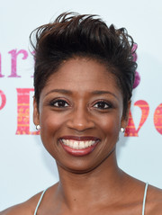Montego Glover rocked a towering fauxhawk at the New York premiere of 'Learning to Drive.'