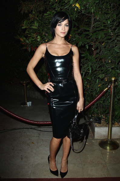 Leigh Lezark Leather Dress