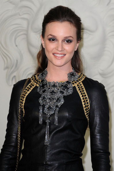 Leighton Meester Half Up Half Down