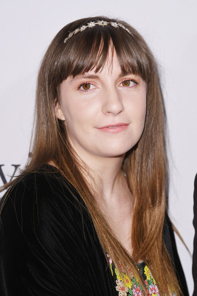 Lena Dunham Long Straight Cut with Bangs