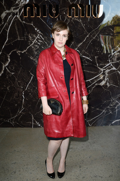 Lena Dunham Leather Coat