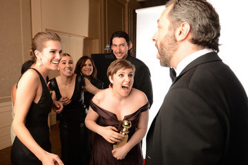 Lena Dunham Zosia Mamet 70th Annual Golden Globe Awards - Backstage Portraits
