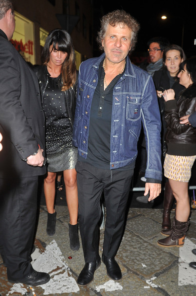 Renzo Rosso's blue denim jacket looked tough but stylish.
