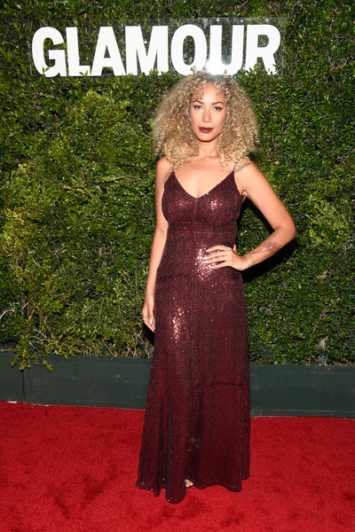 Leona Lewis Sequin Dress