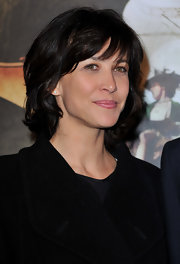 Sophie Marceau's lipstick was a precious pop of pink.