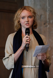 Lily Cole sported a neutral palette all the way down to her dark gray nail polish when she attended the Liberatum Berlin.