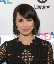Constance Zimmer stuck to her usual short waves when she attended the 'UnREAL' Emmy FYC screening.