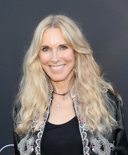 Alana Stewart was hippie-chic with her long wavy 'do at the 'Growing Up Supermodel' viewing party.
