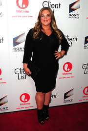 Rebecca Field chose to wear a classic LBD for the launch party of 'The Client List.'