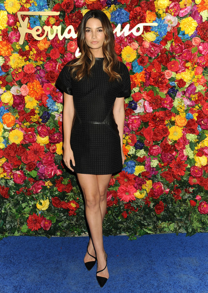 Lily Aldridge Little Black Dress