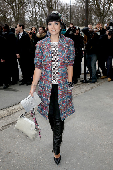 Lily Allen Tweed Coat