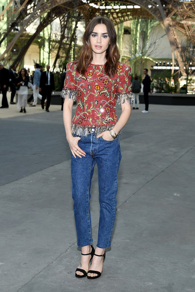 Lily Collins Classic Jeans