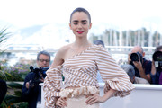 Lily Collins Off-the-Shoulder Top
