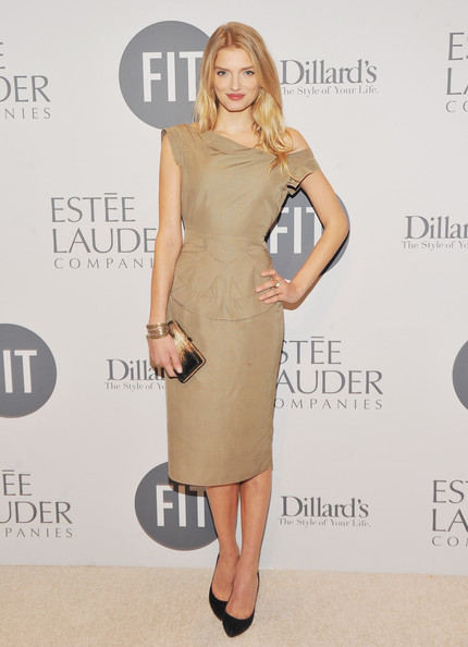 Lily Donaldson Off-the-Shoulder Dress