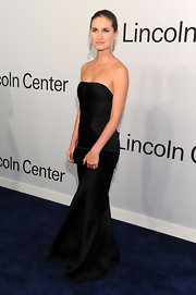 Lauren Bush wore an elegant strapless black gown for the Evening With Ralph Lauren event.
