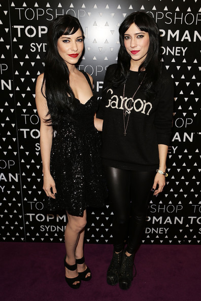 Lisa Origliasso Mini Dress [little black dress,dress,fashion,black hair,event,cocktail dress,premiere,style,celebrities,jessica origliasso,lisa origliasso,sydney,australia,topman sydney launch,topshop,launch party]