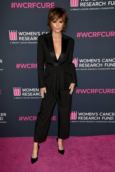 Lisa Rinna Jumpsuit [clothing,suit,pantsuit,carpet,red carpet,premiere,formal wear,tuxedo,dress,flooring,arrivals,lisa rinna,beverly hills,california,four seasons hotel,beverly wilshire,womens cancer research fund,the womens cancer research fund,an unforgettable evening,celebrity,dell,supermodel,red carpet,socialite,dell optiplex 980,model,tuxedo m.,fashion]