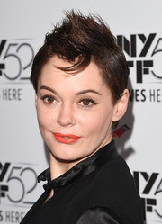 Rose McGowan toughened up with this fauxhawk at the New York premiere of 'Listen Up, Phillip.'